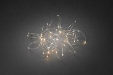 LED Tropfenlichterkette mit silbernem Draht