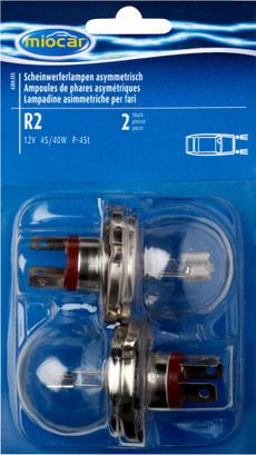 Ampoule R2, asymétrique