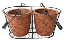 WIRE CLAY POT, 2 PCS