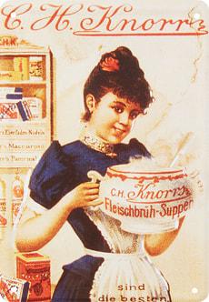 Signe de tôle publicitaire Knorr