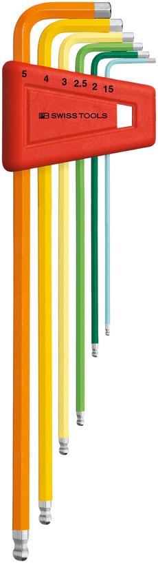 Farbige Winkelschraubenzieher-Sätze PB 212 H5