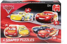 Disney Cars 3 Puzzle, 4 Konturenpuzzles in einem