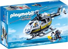 Playmobil Hélicoptère et policiers d'élite