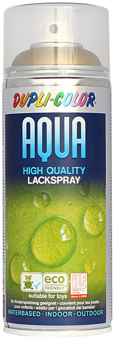 Aqua Lackspray Gold seidenmat