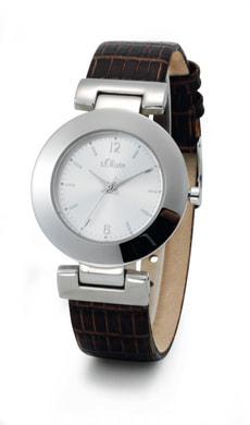 L- s.Oliver KROKOS argenté montre