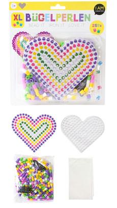 Perles à repasser Kit XL, coeur, 250 pcs.
