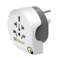 Q2Power Reiseadapter Welt nach USA