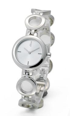 L- s.Oliver CIRCLE gris montre