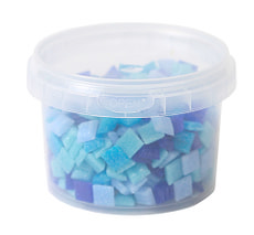 Mélange de mosaïque bleu