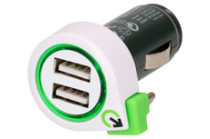 Q2Power Dual USB Car Charger with USB Typ C Cable