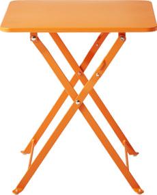 Table pliante CANCUN, orange, 40 cm