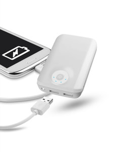 chargeur blanc 10'000 mAh
