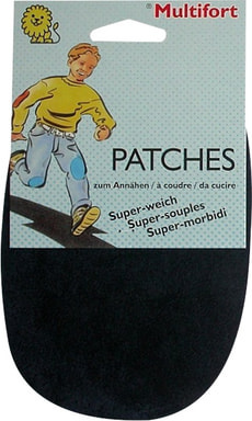 Patches velours souple marine 2pcs.