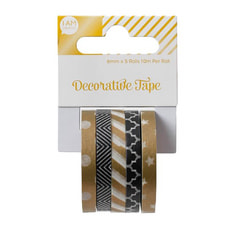Shiny Washi-Tape Set 5X6MMX10M