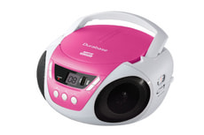 CD 6100 Boombox rose, blanc, noir