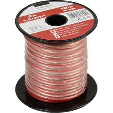 Câble audio, câble haut-parleur, transparent 2x 1,5 mm², 10,0 m