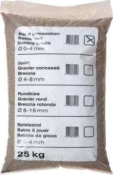Palette Sable lavé, 25 kg