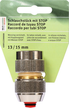Schlauchstück mit STOP, 13/15mm