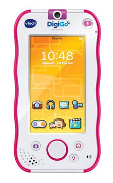 Messenger in stylischem Smartphone - Design (pink)