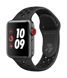 Watch Series 3 Nike+ GPS/LTE 38mm spacegray/black