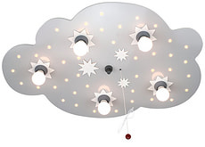Plafonnier nuage étoiles