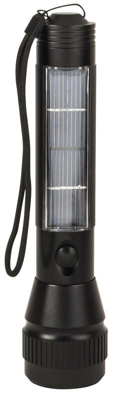 SunPower Solar LED-Taschenlampe