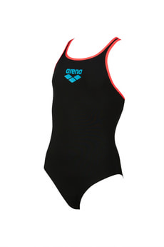 Girls Big Logo Swim Pro Back One Piece