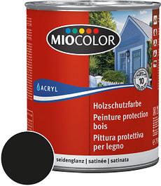 Peinture de protection pour le bois Noir 750 ml