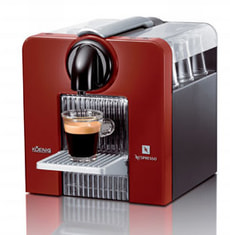L-KAPSELMASCHINE NESPRESSO LE CUBE RED