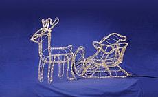 LightLine Santaclaus avec renne 3D