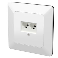 Modino UP Steckdose 2xRJ45 Cat5e 4-polig weiss