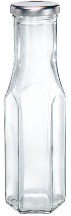 Bouteille en verre a six facette 256 ml