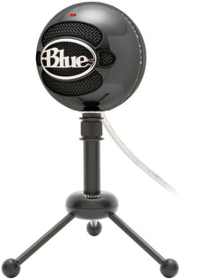 Snowball Microphone USB gloss black