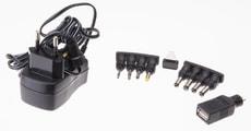 Universal-Steckernetzgerät 600mA schwarz