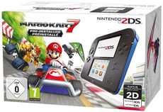 2DS black-blue inkl. Mario Kart 7