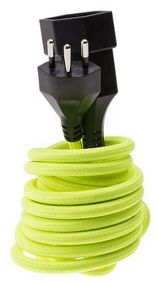 Textil-Verlängerungskabel fluo gelb