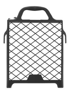 Abstreifgitter 21x25cm Kunststoff schwarz