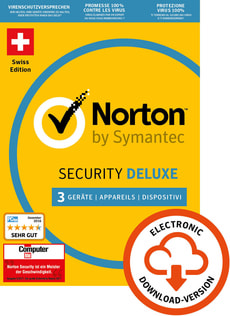 Norton Security Deluxe 3.0 3 User 1 Year PC/Mac/Andorid/iOS