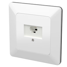 Modino UP Steckdose 1xRJ45 Cat5e 8-polig weiss