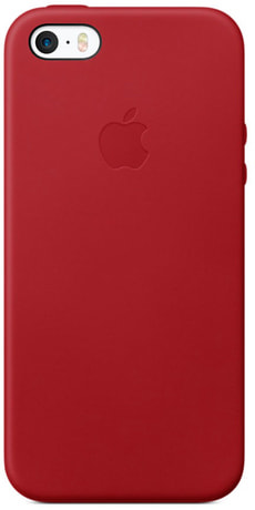 iPhone SE Leather Case Rouge