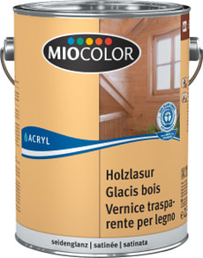 Acryl Glacis bois Blanc chaux 2.5 l