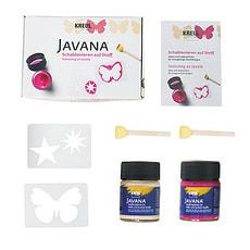 Javana Schablonieren auf Stoff