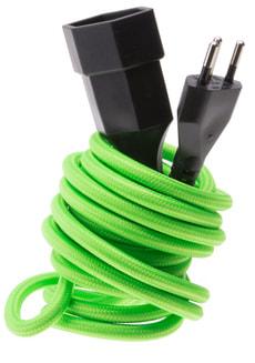Textil-Verlängerungskabel fluo grün