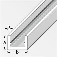 U-Profil  1.5 x 10 x 16.5 mm silberfarben 1 m