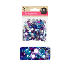 STRASS.ROND,BLEU MIX