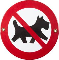 Panneau en émail Hunde verboten Symbol
