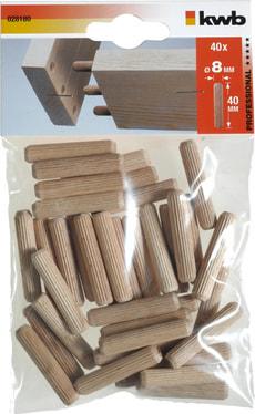 Tourillons en bois, 8 x 40 mm