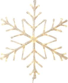 LED Acryl Schneeflocke, warmweiss