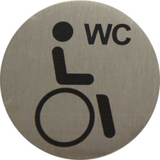 Türschild Behinderten WC