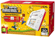 2DS bianco-Red incl. New Super Mario Bros. 2